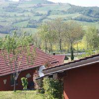 Vista dall'alto del villaggio