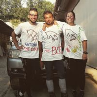 lo staff: Antonio, Diego e Fabiola
