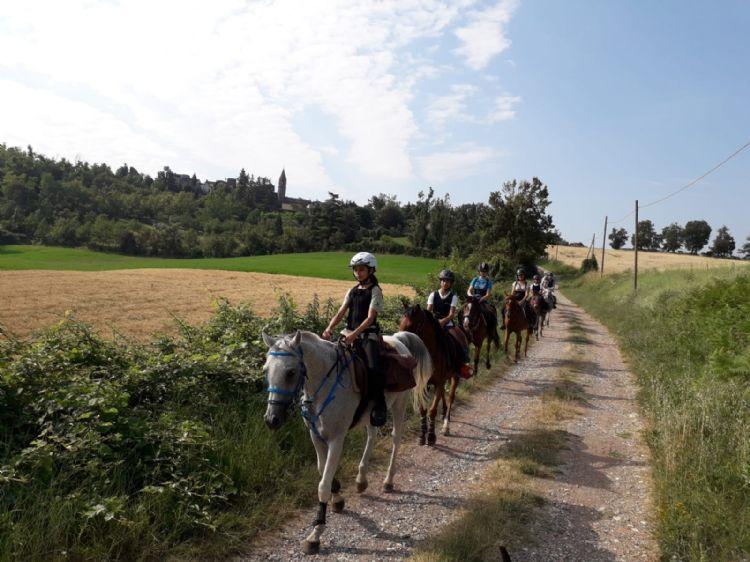 il gruppo a cavallo