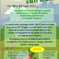 VIAGGIO A CAVALLO IN VAL D'AOSTA ESTATE 2021